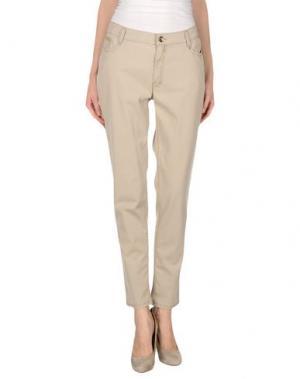 Повседневные брюки 22 MAGGIO BY MARIA GRAZIA SEVERI. Цвет: бежевый