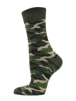 Носки, 2 пары HOSIERY. Цвет: зеленый
