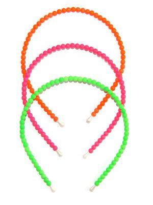 Ободок, 3 шт Lola. Цвет: оранжевый, зеленый, розовый