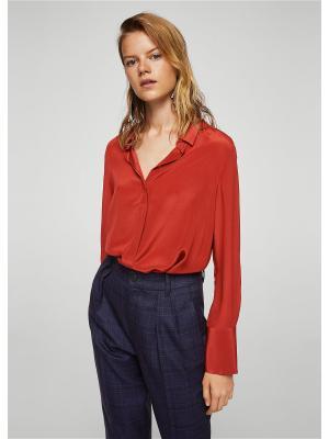 Рубашка - NODER Mango. Цвет: коричневый