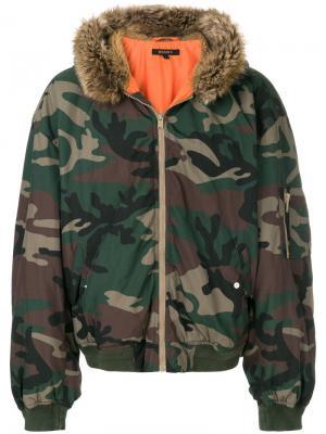 Куртка-бомбер Season 5 с капюшоном Yeezy. Цвет: зелёный