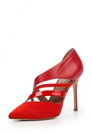 Туфли Arella. Цвет: красный