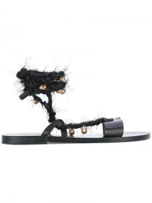 Сандалии Lachesis Ancient Greek Sandals. Цвет: чёрный