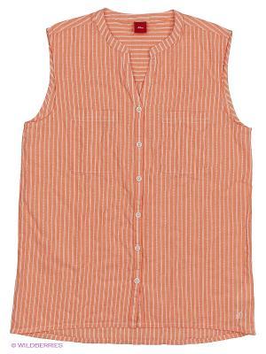 Блузка S.OLIVER. Цвет: оранжевый