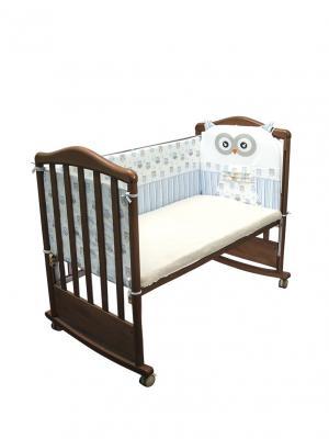 Бортик для кровати Сонный гномик. Цвет: голубой