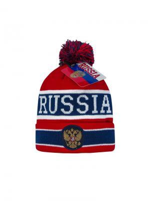 Шапка Россия Atributika & Club. Цвет: красный, синий