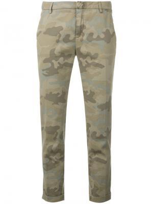 Камуфляжные брюки Fay. Цвет: зелёный