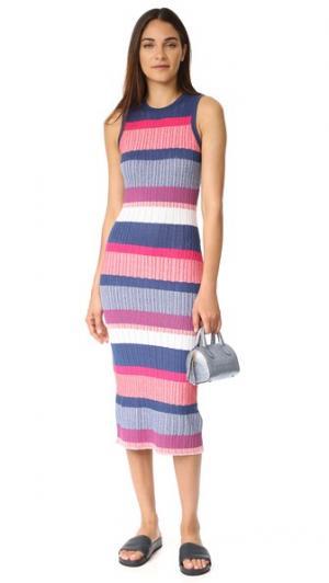 Платье Drop Needle Naomi Tanya Taylor. Цвет: розовый мульти