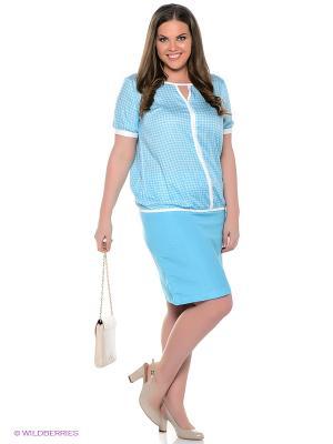 Блузка Finn Flare. Цвет: голубой