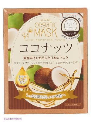 Japan Gals Маски для лица органические с экстрактом кокоса 7 шт. Цвет: прозрачный