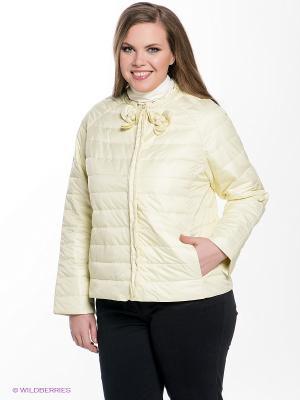 Куртка Sinta Via. Цвет: желтый