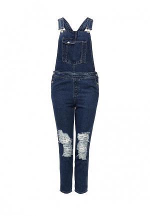 Комбинезон джинсовый Topshop. Цвет: синий