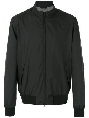 Classic collar bomber jacket Herno. Цвет: чёрный