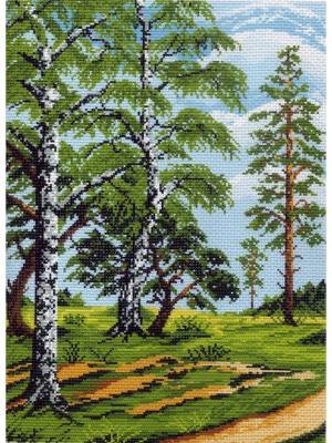 Набор для вышивания На лесной опушке Матренин Посад. Цвет: зеленый