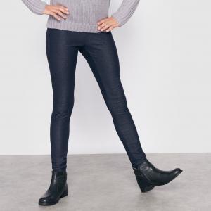 Джеггинсы с джинсовым эффектом, 10-16 лет R édition. Цвет: темно-синий