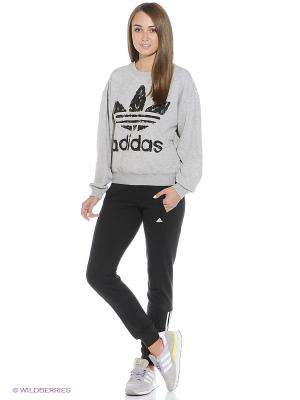 Свитшот Fashion Graphic Sweater Adidas. Цвет: серый