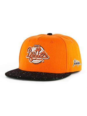 Бейсболка TRUESPIN Splatter Baller True Spin. Цвет: оранжевый