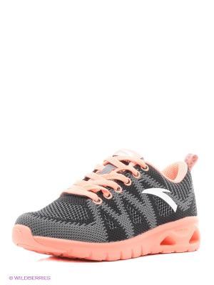 Кроссовки ANTA. Цвет: серый, розовый, белый