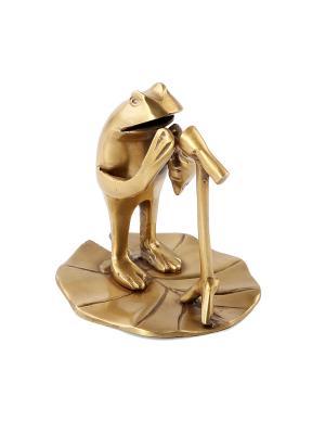 Статуэтка Лягушка с микрофоном ГАНГ. Цвет: бронзовый