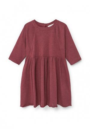 Платье Mango Kids. Цвет: бордовый