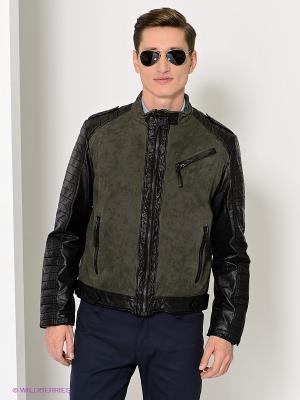 Куртка MUSTANG. Цвет: серо-зеленый, черный