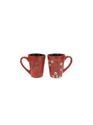 Кружка 320мл в п/у Elff Ceramics. Цвет: черный, красный