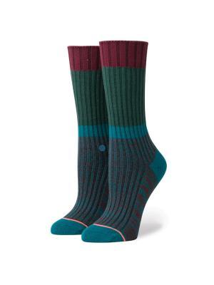 Носки ж OHIO (FW17) Stance. Цвет: темно-зеленый,темно-бордовый