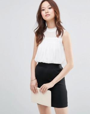 Girl In Mind Платье мини 2 в 1 с высокой горловиной Evie. Цвет: черный
