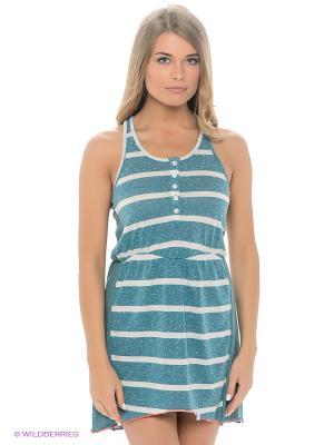 Платье-туника BRUNOTTI. Цвет: бирюзовый, белый