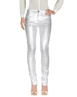 Повседневные брюки COSTUME NEMUTSO. Цвет: серебристый