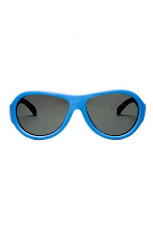 Голубые солнцезащитные очки Babiators. Цвет: голубой