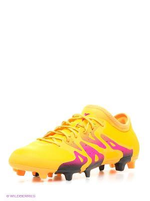 Бутсы X 15.2 Fg/Ag Adidas. Цвет: желтый