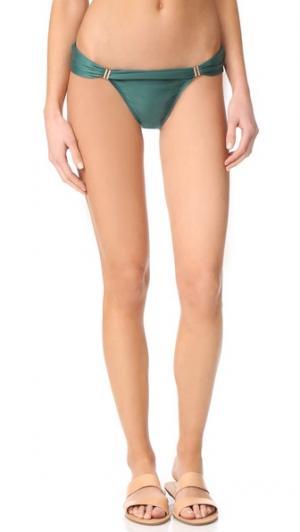 Однотонные закрытые плавки бикини Bia с трубками ViX Swimwear. Цвет: зеленый