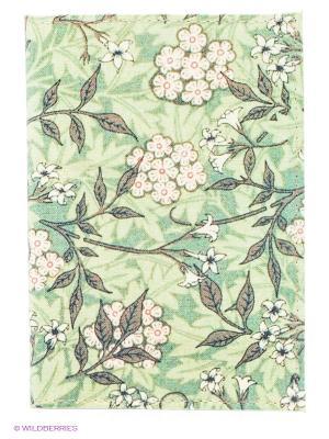 Обложка для паспорта Розовые цветы Mitya Veselkov. Цвет: зеленый