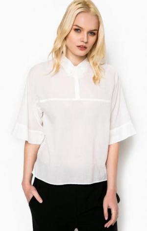 Блуза с расклешенными рукавами DRYKORN. Цвет: белый