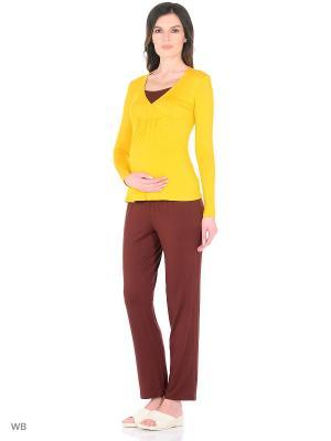 Домашний костюм Адель. Цвет: коричневый, желтый