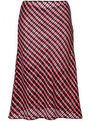 Юбка миди Versace. Цвет: красный