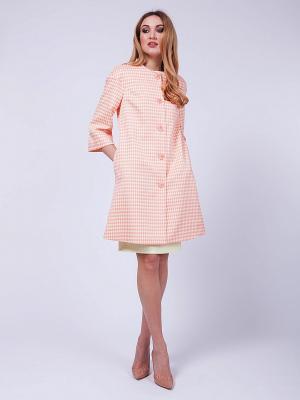 Пальто VLАDI Collection. Цвет: персиковый