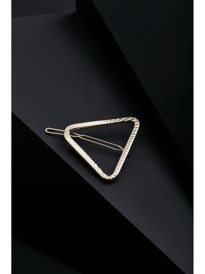 Заколка для волос Треугольник Деметры, 5х4,5 см Nothing but Love. Цвет: золотистый