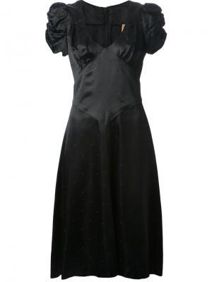 Платье с пышными рукавами Biba Vintage. Цвет: чёрный