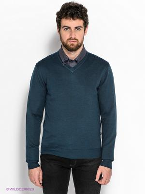 Пуловер GroStyle. Цвет: морская волна