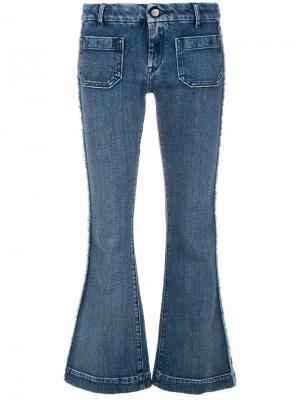 Укороченные джинсы клеш The Seafarer. Цвет: синий