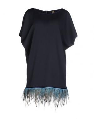 Короткое платье JIJIL. Цвет: темно-синий