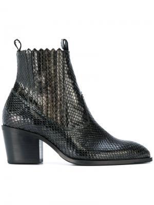 Ботинки Freddy Cura с эффектом змеиной кожи Nubikk. Цвет: чёрный