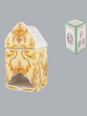 Банка для чайных пакетиков Узор золотой Elan Gallery. Цвет: бежевый, золотистый