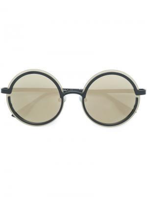Очки с круглой оправой Le Specs. Цвет: чёрный