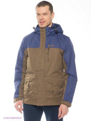 Куртка Trespass. Цвет: коричневый, синий