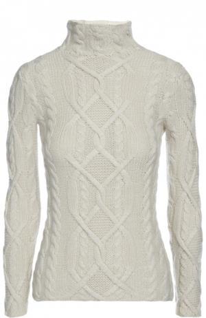 Вязаный свитер Colombo. Цвет: белый