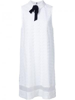 Платье с вышивкой Alice+Olivia. Цвет: белый