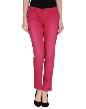 Повседневные брюки RE-HASH. Цвет: пурпурный